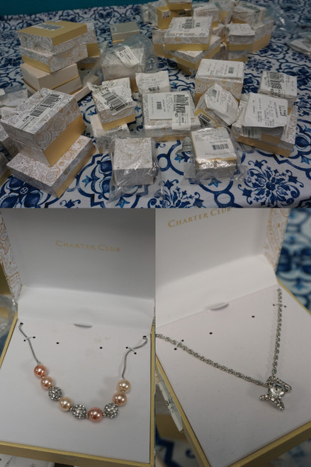 49+pc M*CYS STORE RETURN Charter Boxed Jewelry Watches & More #24960K (W-7-4)