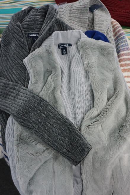 22pc Lands End Womens Cardigans / Sweater Jackets #24897M (W-10-2)