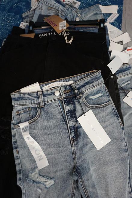 14pc Juniors Jeans REWASH Tinseltown VANILLA STAR #25924N (X-8-2)