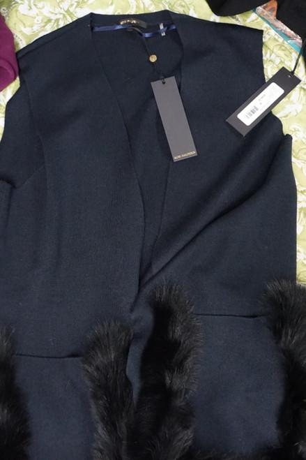 3pc Womens Kobi HALPERIN Blue Fox Fur & Wool Jackets #25963Q (W-1-3)
