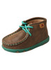 Twisted X Infant Driving Mocs, Turquoise