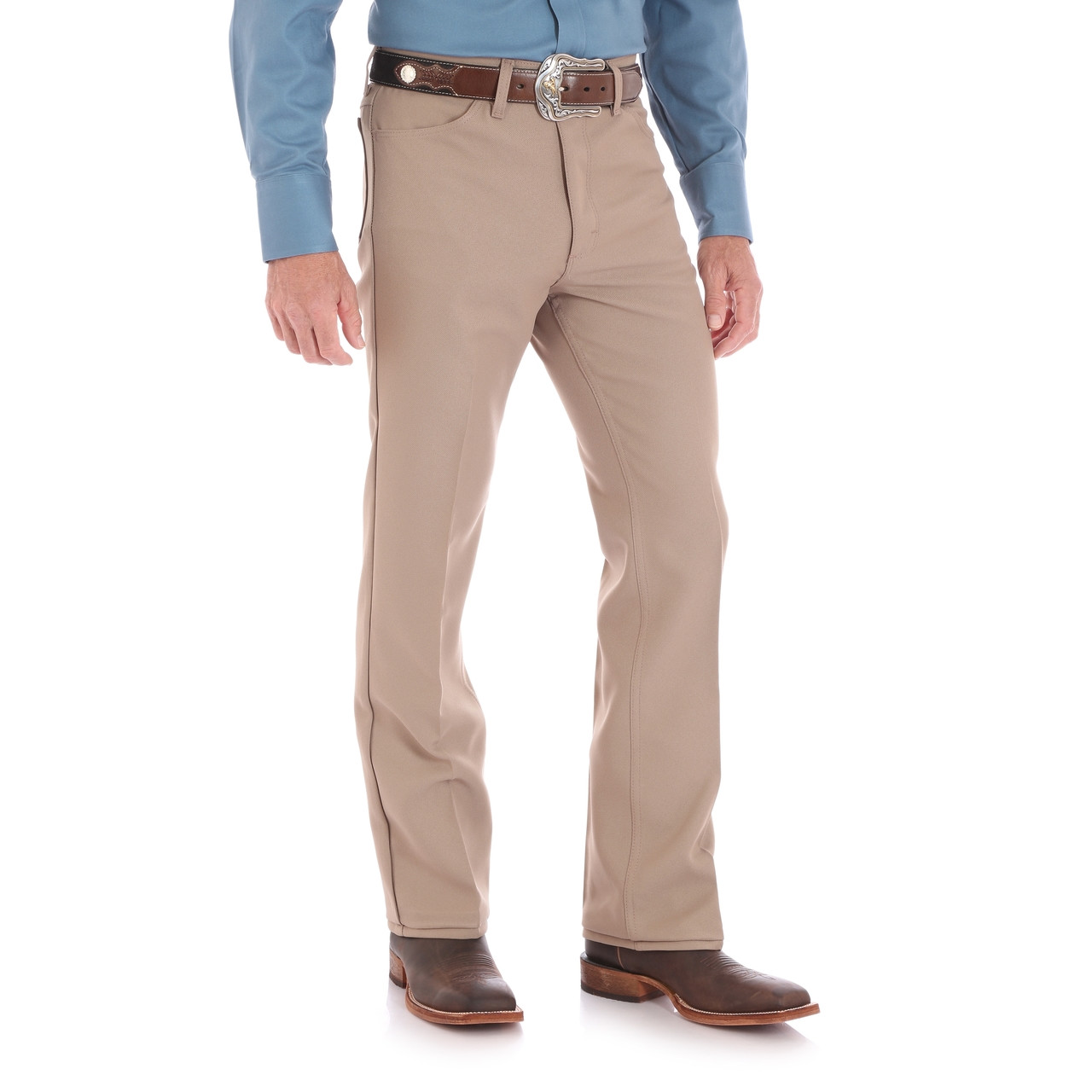 TAN Wrangler Wrancher Dress Jean