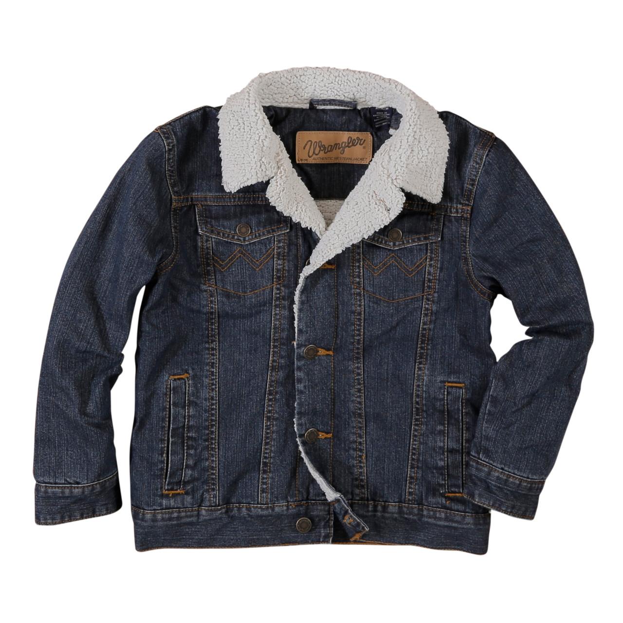Wrangler Boys Lined Denim Jacket Denim Jacket