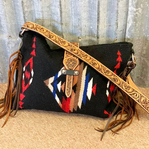 Twisted X Saddle Blanket Bag, Black