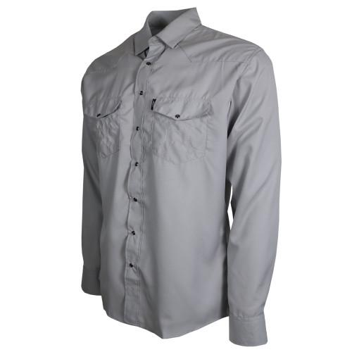 Hooey Sol Long Sleeve Snap Shirt, Gray