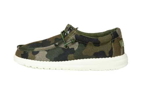Hey Dude Youth Wally Linen Camo