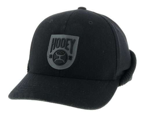 Hooey Out Cold Ear Flap Cap, Black