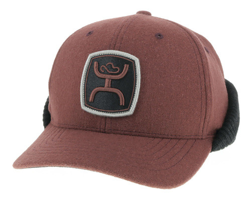 Hooey Out Cold Maroon Ear Flap Cap