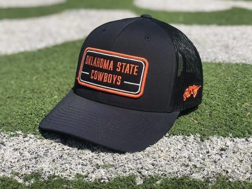 Hooey Oklahoma State Trucker Cap with Patch, Black/Orange