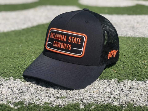 Hooey Oklahoma State Youth Trucker Cap with Patch, Black/Orange