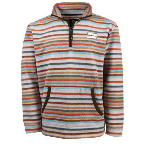 Hooey Men's Striped Fleece Pullover