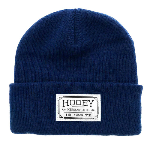 Hooey Beanie Navy with Hooey Mercantile Patch