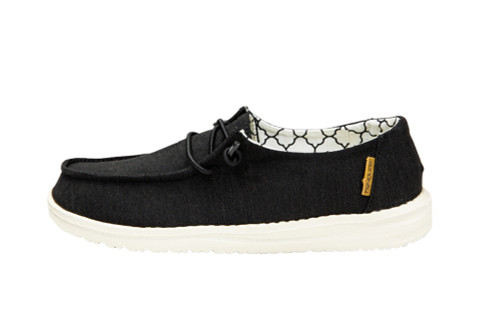 Hey Dude Wendy Youth Linen Black