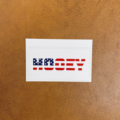 Hey Dude Red, White and Blue Sticker