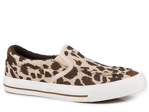 Roper Women's Leopard Print Canvas Slip On Casual Shoe
