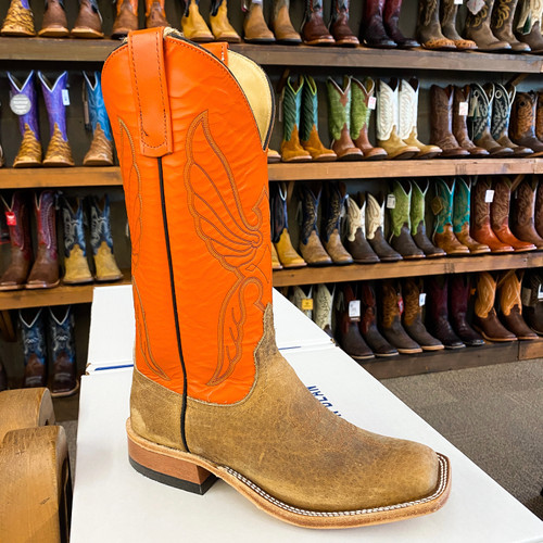Anderson Bean Distressed Bison with Orange Top