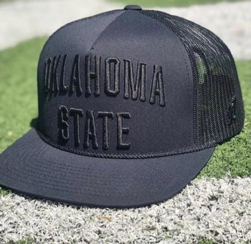 Hooey Oklahoma State Black Trucker Cap