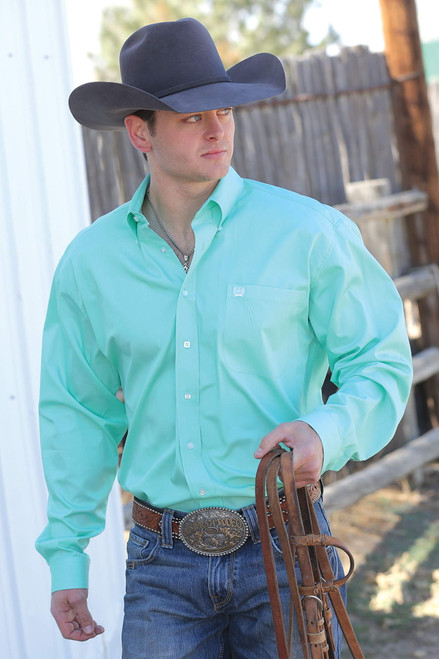 Cinch Men's Mint Solid Western Shirt