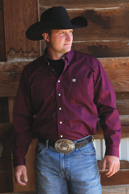 Cinch Men's Burgundy Western Shirt