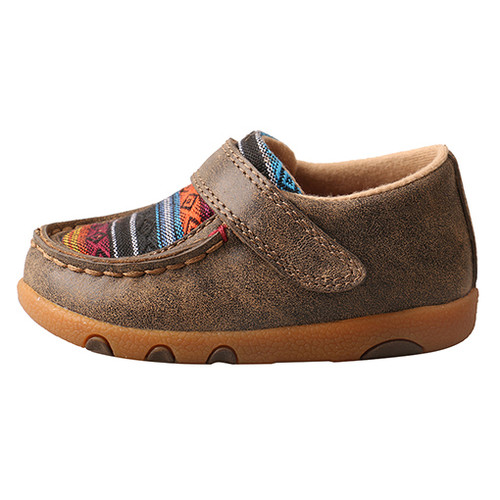 Twisted X Infant Serape Driving Moc with velcro.