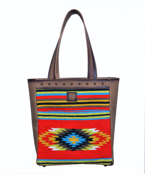 Rafter T Crescent Tornado Sand Leather Large Tote
