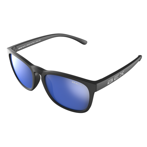 Bex Baby Byrd Sunglasses Black with Blue Lens