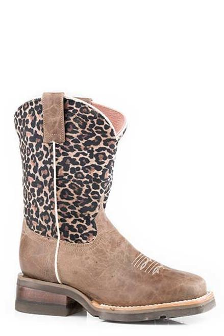 Roper Girls Cheetah Print Square Toe Boot