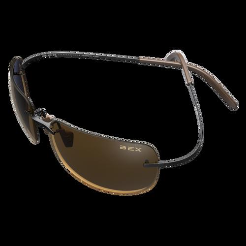 Salerio II Bex Sunglasses, Black/Brown