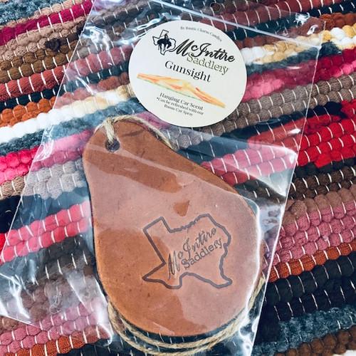 McIntire Saddlery Gunsight Leather Car Scent