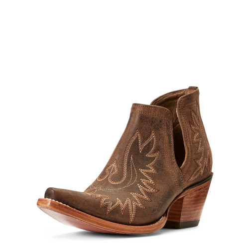 Ariat Dixon Snip Toe Bootie, Weathered Brown
