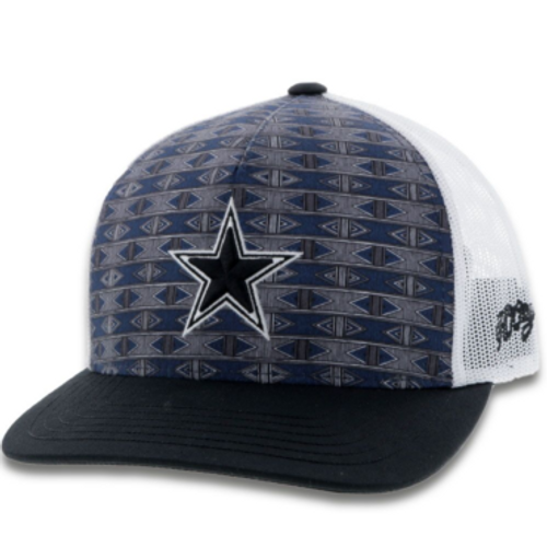 Dallas Cowboys x Hooey Navy Aztec Snapback