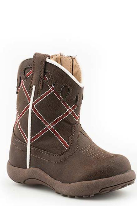 Roper Infant Cowbabies Zipper Boot, Brown