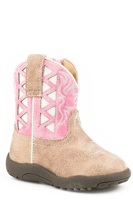 Roper Infant Girls Cowbabies Boot, Pink