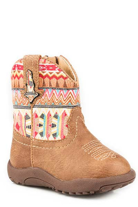 Roper Infant Aztec Print Cowbabies Boot, Tan