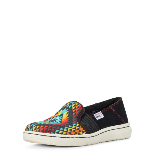 Ariat Ryder Slip On Shoe, Rainbow Aztec