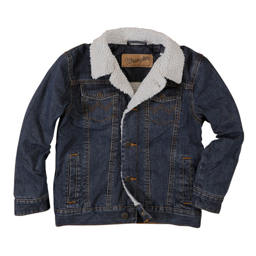 Wrangler Boys Sherpa Lined Denim Jacket, Rustic Blue