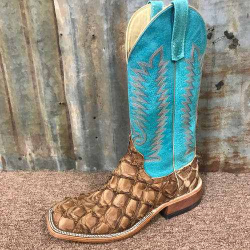 Anderson Bean Men's Big Bass Boots Cigar and Turquoise