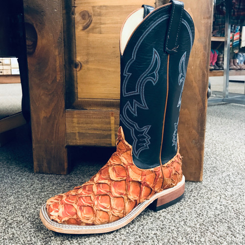 Anderson Bean Cognac Matte Big Bass Square Toe Boots