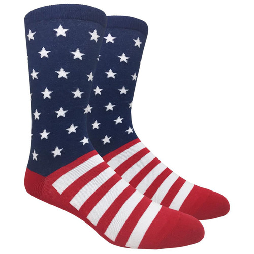 Stars and Stripes Socks Red White and Blue