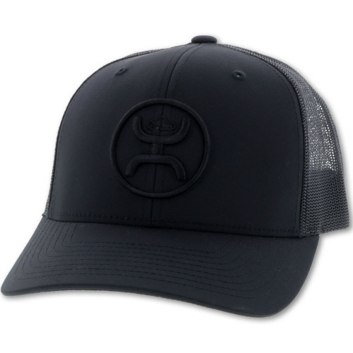 Hooey Classic O Black Trucker Cap