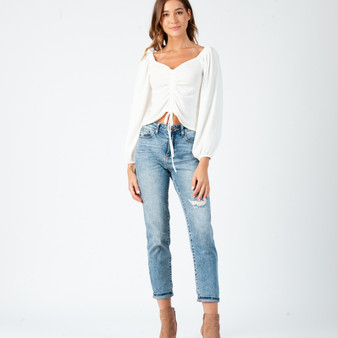 Camille rouched front top