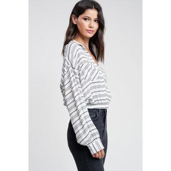 X front stripe blouse