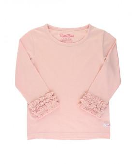 Ballet pink ruffled layering tee