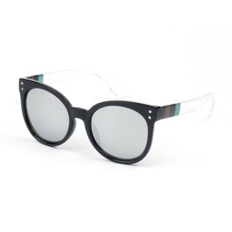 Mirrored Soft Cat Eye Glasses