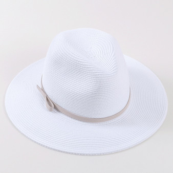 White Band Panama Hat