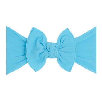 Neon Blue Knot Bow