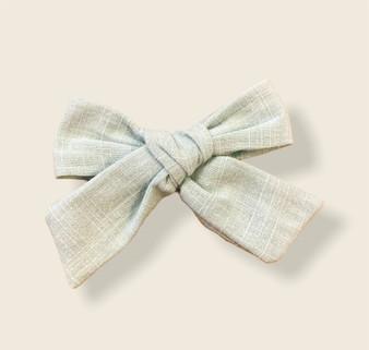 Sage Linen Bow