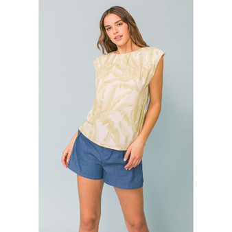 Pleated Palms Top