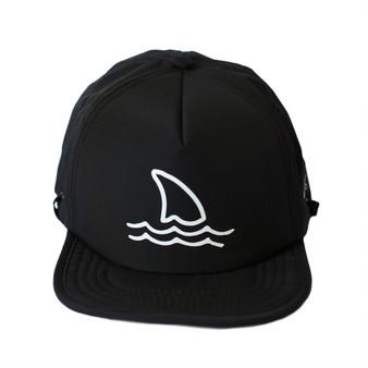 Black Shark Fin Trucker Sun Hat