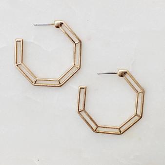 Forever Linked Hoop -Gold